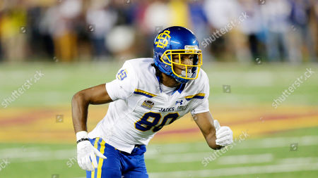 Stock Photo of Tyreke Evans. South Dakota State wide receiver Adam Anderson during an NCAA football game against MinnesotaSouth Dakota State in Minneapolis