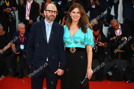 Steven Soderbergh, Jules Asner. Director Steven Soderbergh, left, and Jules Asner pose for photographers upon arrival at the premiere of the film 'The Laundromat' at the 76th edition of the Venice Film Festival, Venice, Italy
