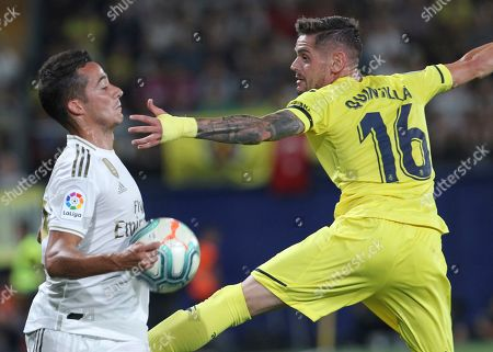 Wesley Sneijder. Real Madrid's Lucas Vazquez, left, vies for the ball with Villareal's Xavi Quintilla during the Spanish La Liga soccer match between Villarreal and Real Madrid in the Ceramica stadium in Villarreal, Spain