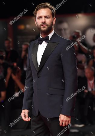 Alessandro Borghi arrive for the premiere of 'Wasp Network ' during the 76th annual Venice International Film Festival, in Venice, Italy, 01 September 2019. The movie is presented in the official competition 'Venezia 76' at the festival running from 28 August to 07 September.