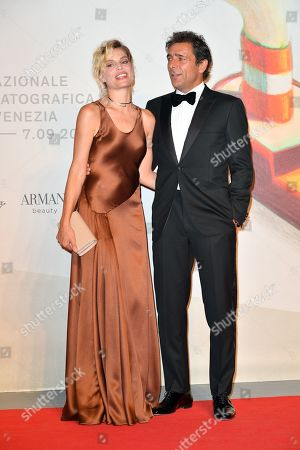 Stock Image of Micaela Ramazzotti and Adriano Giannini