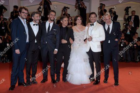 Rodrigo Teixeira, Leonardo Sbaraglia, Wagner Moura, Gael Garcia Bernal, Penelope Cruz, Edgar Ramirez and Olivier Assayas