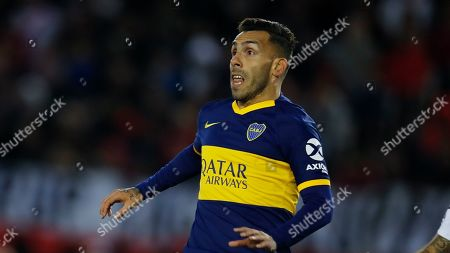 Boca Juniors' Carlos Tevez reacts during their Argentine first division soccer game against River Plate in Buenos Aires, Argentina