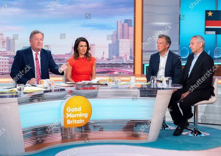 Stock Image of Piers Morgan, Susanna Reid, Tom Newton Dunn and Kevin Maguire