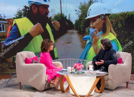 Stock Picture of Lorraine Kelly and Laurence Llewelyn-Bowen