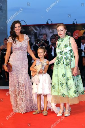 Veronica Berti Bocelli with daughter Virginia and mother Elena Brunelli
