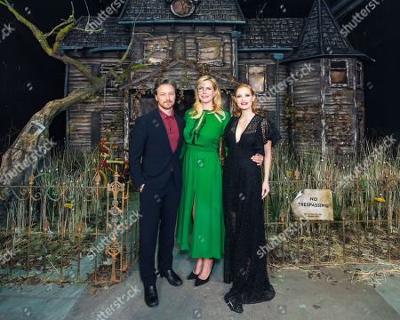 James McAvoy, Barbara Muschietti and Jessica Chastain attend the IT CHAPTER TWO European premiere at the Vaults in Waterloo, London. IT CHAPTER TWO is released in UK cinemas on 6th September