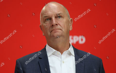Brandenburg Premier and chairman of the Social Democratic Party (SPD) Dietmar Woidke attends a press conference at the SPD's headquarters in Berlin, Germany, 02 September 2019. The SPD suffered losses in both the Brandenburg and Saxony state elections.