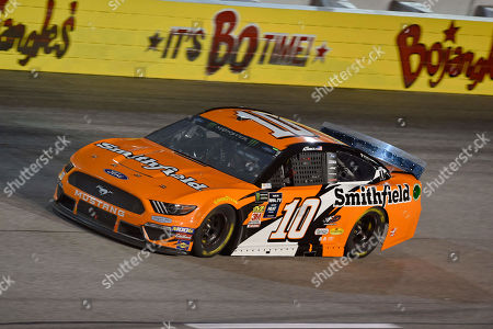 Aric Almirola drives out of Turn 1 during a NASCAR Cup Series auto race, at Darlington Raceway in Darlington, S.C