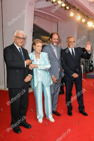 Luca Guadagnino, Paolo Baratta, Alberto Barbera with Julie Andrews