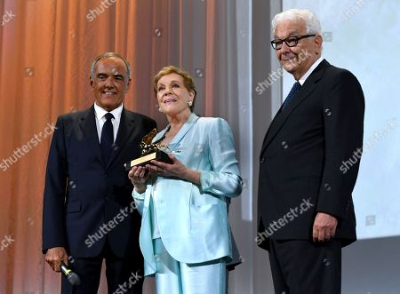 Paolo Baratta, Alberto Barbera with Julie Andrews
