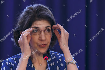 Stock Photo of Fabiola Gianotti, Director General of the European Organization for Nuclear Research (CERN), informs the media about the CERN's Open Days, during a press conference at the European Organization for Nuclear Research (CERN) in Meyrin near Geneva, Switzerland, 02 September 2019. The open day's of CERN will take place on 14 and 15 September 2019.