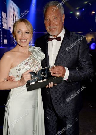 Kylie Minogue and Tom Jones