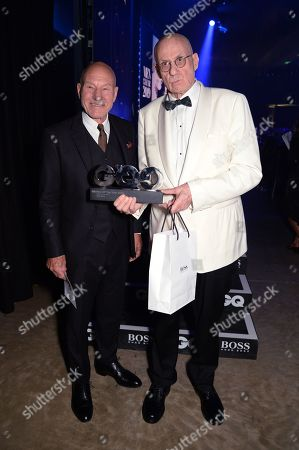 Stock Photo of Sir Patrick Stewart and James Ellroy
