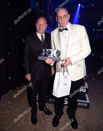 Sir Patrick Stewart and James Ellroy