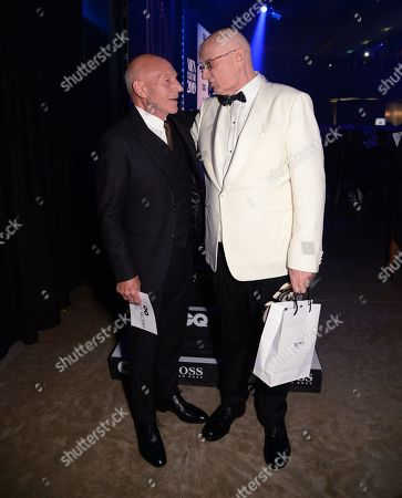 Stock Picture of Sir Patrick Stewart and James Ellroy