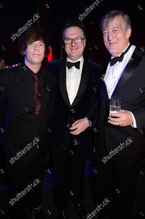 Elliott Spencer, Ewan Venters and Stephen Fry