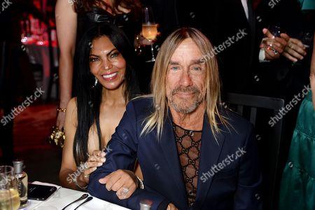Stock Photo of Nina Alu and Iggy Pop
