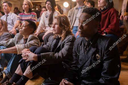 Stock Image of Danielle Cooper as Wanda, Sandra Bernhard as Nurse Judy and Billy Porter as Pray Tell
