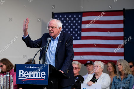Editorial picture of Bernie Sanders, US Presidental Election campaigning, Portland, Maine, USA - 01 Sep 2019