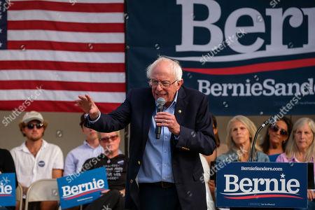 Editorial image of Bernie Sanders, US Presidental Election campaigning, Portland, Maine, USA - 01 Sep 2019