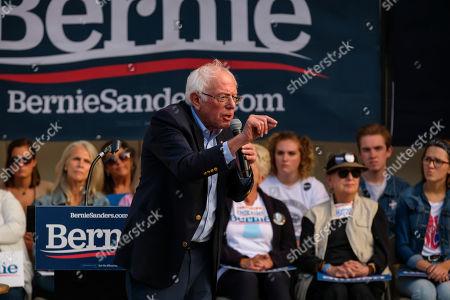 Editorial photo of Bernie Sanders, US Presidental Election campaigning, Portland, Maine, USA - 01 Sep 2019