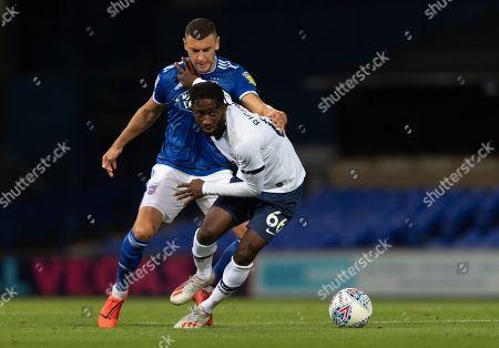 Rodel Richards of Tottenham Hotspur U21 and James Wilson of Ipswich Town