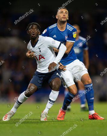Stock Image of Rodel Richards of Tottenham Hotspur U21 and James Wilson of Ipswich Town