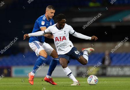 James Wilson of Ipswich Town and Rodel Richards of Tottenham Hotspur U21