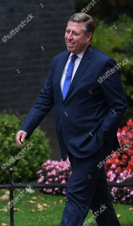 Conservative Member of Parliament, Graham Brady (L) arrives for a cabinet meeting in 10 Downing Street, Westminster, London, Britain, 02 September 2019. Britain's Prime Minister Boris Johnson has said Britain must leave the EU on 31 October, with or without a deal, prompting a number of British Members of Parliament to unite to try to prevent leaving without an agreement as Parliament assembles on 03 September 2019.