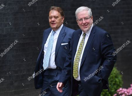 Conservative Member of Parliament, Patrick McLoughlin (R) arrives for a cabinet meeting in 10 Downing Street, Westminster, London, Britain, 02 September 2019. Britain's Prime Minister Boris Johnson has said Britain must leave the EU on 31 October, with or without a deal, prompting a number of British Members of Parliament to unite to try to prevent leaving without an agreement as Parliament assembles on 03 September 2019.