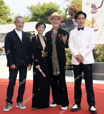 Chinese actor Tian Zhuangzhuang, Taiwanese actress Sylvia Chang, Chinese director Yonfan and Chinese actor Alex Lam arrive for the premiere of 'Ji Yuan Tai Qi Hao (No. 7 Cherry Lane)' during the 76th annual Venice International Film Festival, in Venice, Italy, 02 September 2019. The movie is presented in official competition 'Venezia 76' at the festival running from 28 August to 07 September.