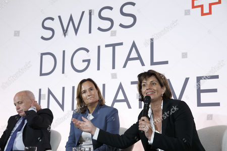 Editorial photo of Swiss Digital Initiative press conference in Geneva, Switzerland - 02 Sep 2019