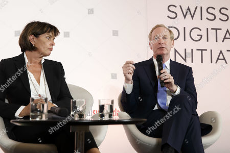 Editorial image of Swiss Digital Initiative press conference in Geneva, Switzerland - 02 Sep 2019