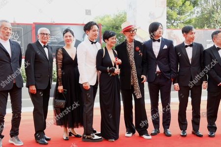 Tian Zhuangzhuang, Alex Lam, Sylvia Chang and director Yonfan with guests.
