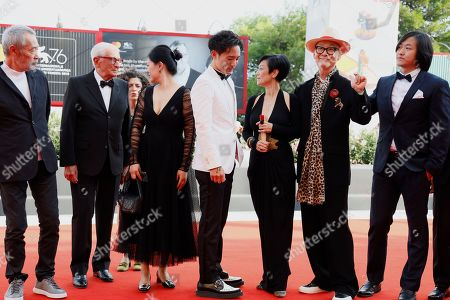 Stock Image of Tian Zhuangzhuang, Alex Lam, Sylvia Chang and director Yonfan with guests.