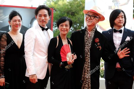 Alex Lam, Sylvia Chang and director Yonfan with guests.