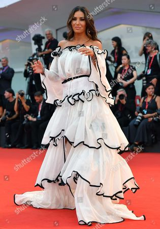 Italian showgirl Elisabetta Gregoraci arrives for a premiere of 'Martin Eden' during the 76th annual Venice International Film Festival, in Venice, Italy, 02 September 2019. The movie is presented in official competition 'Venezia 76' at the festival running from 28 August to 07 September.