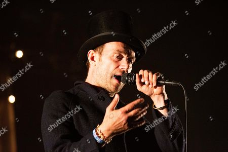Stock Photo of The Good, the Bad & the Queen - Damon Albarn  in concert at day one of Lowlands Festival 2019 Biddinghuizen, Netherlands - 16 august 2019