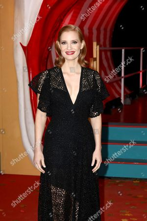 Jessica Chastain poses for photographers on arrival at the European Premiere of the film 'It Chapter 2' in central London on