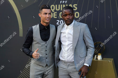 Juventus player, Cristiano Ronaldo (L), and Betis player, William Carvalho, arrive for the 4th Golden Quinas 2019 ceremony at Carlos Lopes Pavillion, Lisbon, Portugal, 02 September 2019. The Golden Quinas ceremony awards the best Portuguese players in the sports of soccer, furtsal and beach soccer.