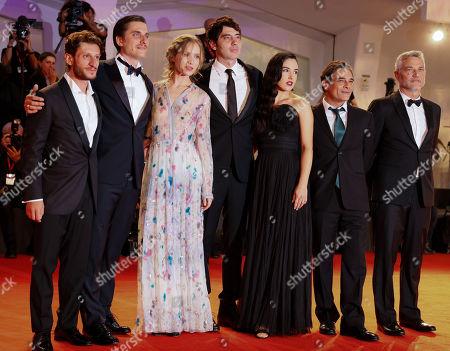 Vincenzo Nemolato with Luca Marinelli, Jessica Cressy, Pietro Marcello, Denise Sardisco, Marco Leonardi and Maurizio Braucci
