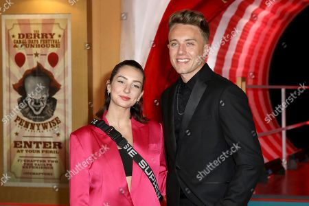 Radio presenter Roman Kemp, and partner Anne-Sophie pose for photographers on arrival at the European Premiere of the film 'It Chapter 2' in central London on