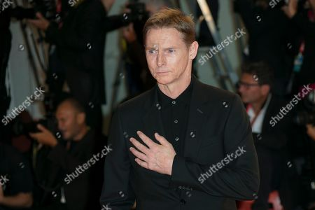Sean Harris poses for photographers upon arrival at the premiere of the film 'The King' at the 76th edition of the Venice Film Festival, Venice, Italy
