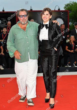 Julian Schnabel and Barbara Paz