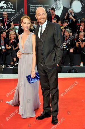 Stock Photo of Cristiana Capotondi and Andrea Pezzi