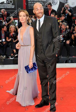 Stock Image of Cristiana Capotondi and Andrea Pezzi