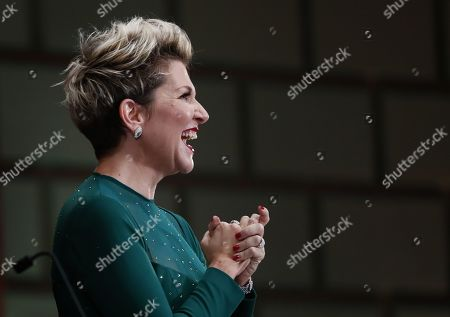 US operatic lyric-coloratura mezzo-soprano, Joyce DiDonato greets the audience after performing a recital on the stage of the Romanian Athenaeum concert hall during the George Enescu International Festival 2019, in Bucharest, Romania, 02 September 2019. The festival, held since 1958 every two years, is the biggest classical music festival held in Romania, in honor of Romanian composer and violinist George Enescu. The 24th edition of the George Enescu International Festival takes place between 31 August and 22 September 2019.