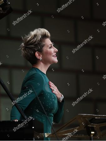 US operatic lyric-coloratura mezzo-soprano, Joyce DiDonato performs a recital on the stage of the Romanian Athenaeum concert hall during the George Enescu International Festival 2019, in Bucharest, Romania, 02 September 2019. The festival, held since 1958 every two years, is the biggest classical music festival held in Romania, in honor of Romanian composer and violinist George Enescu. The 24th edition of the George Enescu International Festival takes place between 31 August and 22 September 2019.