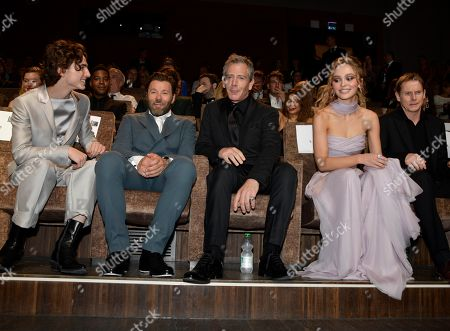 Timothee Chalamet, Joel Edgerton, Ben Mendelsohn, Lily-Rose Depp and Sean Harris